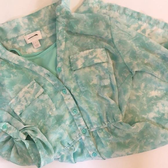 Dress Jcrew size 4. Light green collared 3/4 sleev